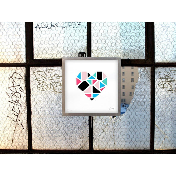 Love+Made | Geometric Heart | Art Prints