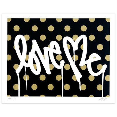 Love Me, Forever Gold - Blk. by Curtis Kulig | Archive | Poster Child Prints