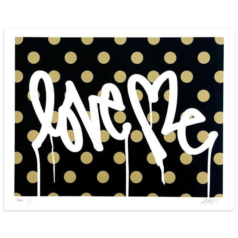 Love Me, Forever Gold - Black - Archive by Curtis Kulig-Archive-Poster Child Prints