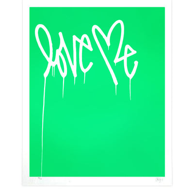 Love Me, Fluorescent Green - Archive | Curtis Kulig | archive | Poster Child Prints
