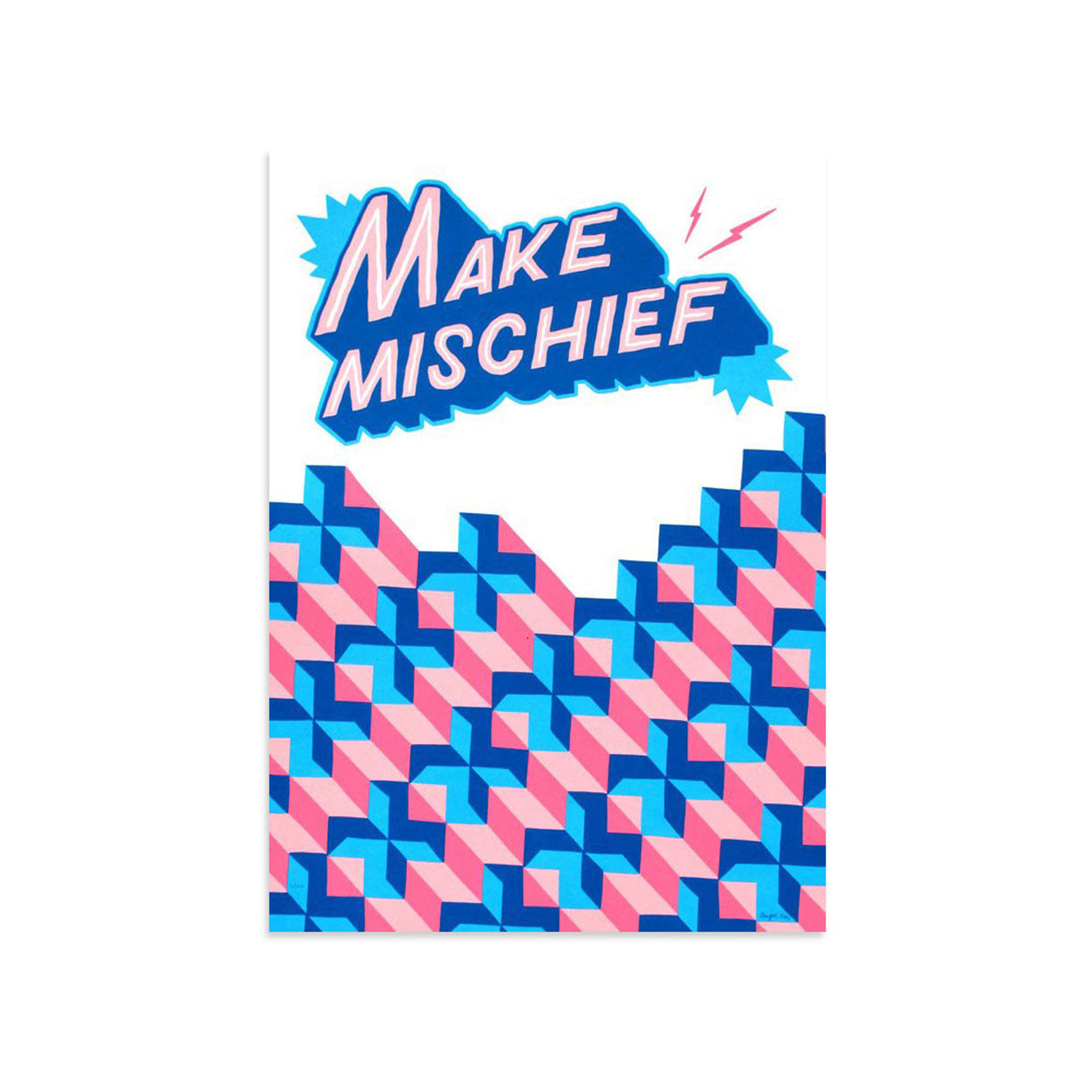 Make Mischief by Ornamental Conifer-Print-Poster Child Prints