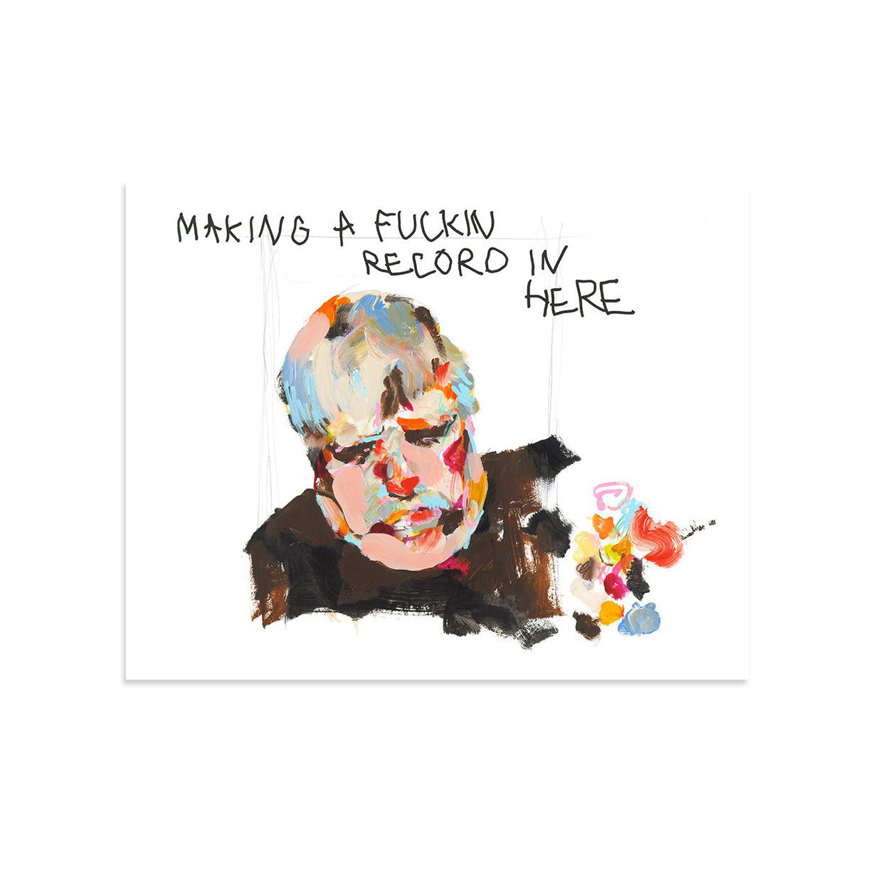 Making a Fucking Record in Here by Hannah Hooper-Print-Poster Child Prints