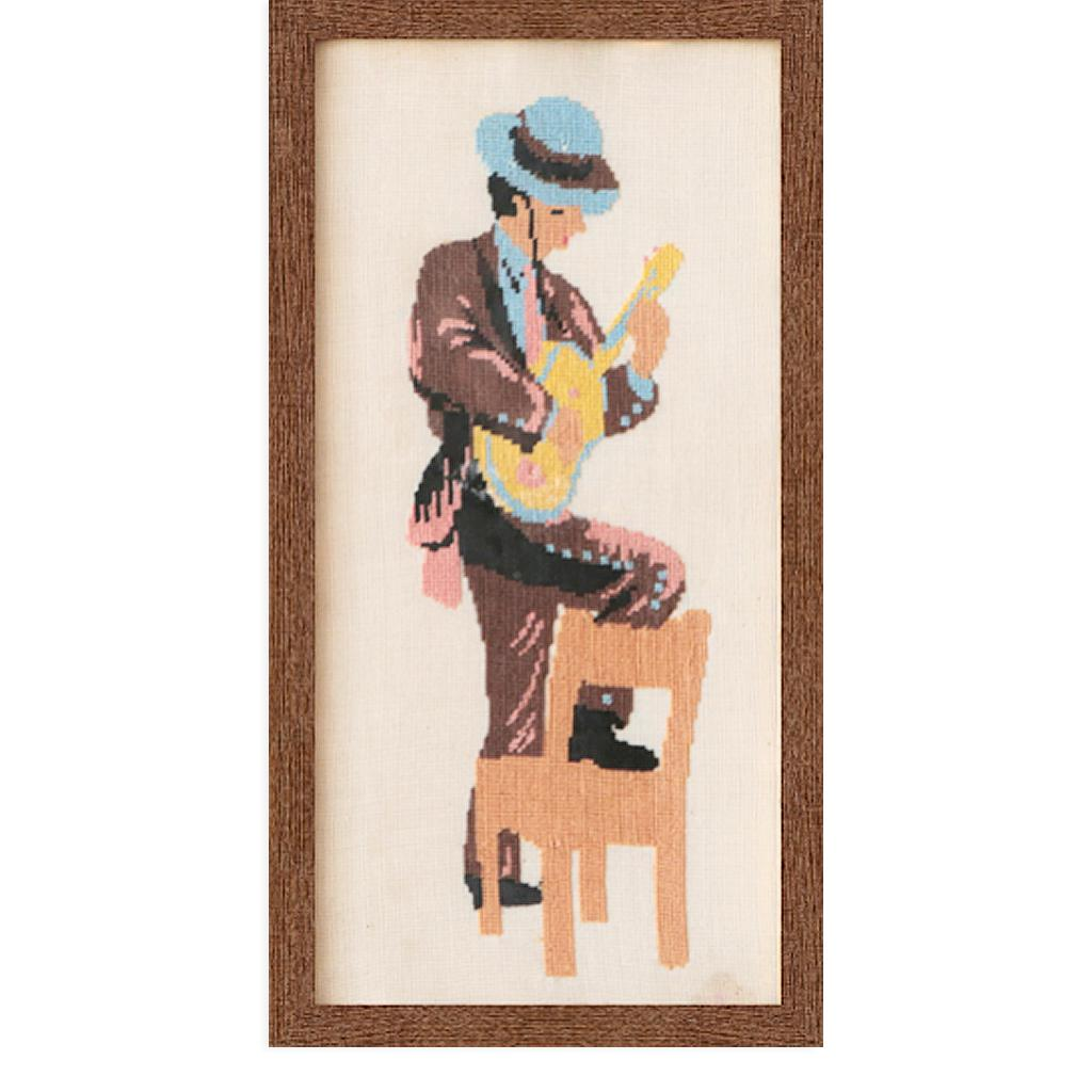 Man and Guitar by Found Art | Found Art | Poster Child Prints