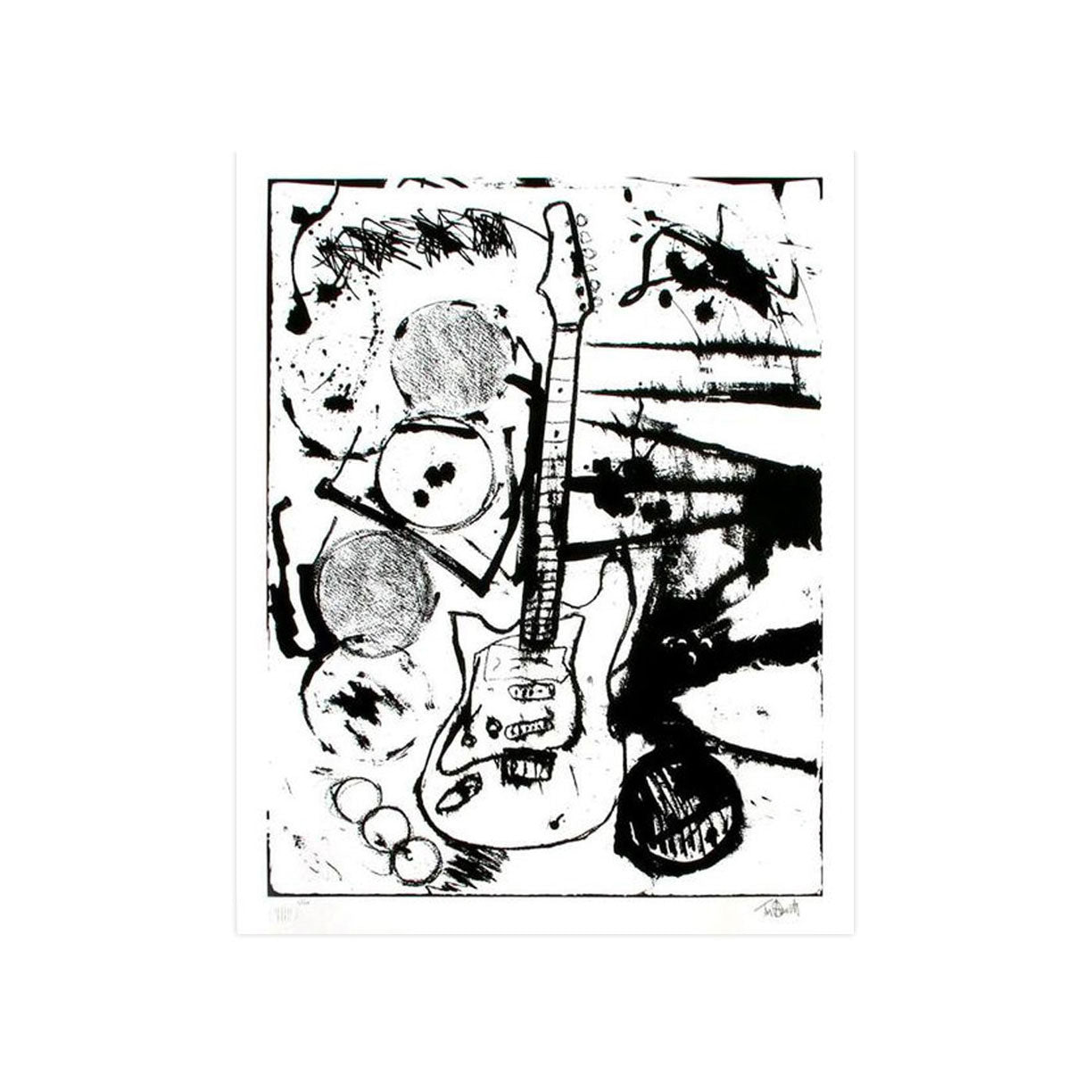 My Operation Ivy Guitar, B&W by Tim Armstrong | Archive | Poster Child Prints