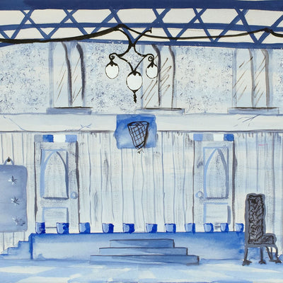 Mystic Stage in Blue by Found Art | Found Art | Poster Child Prints