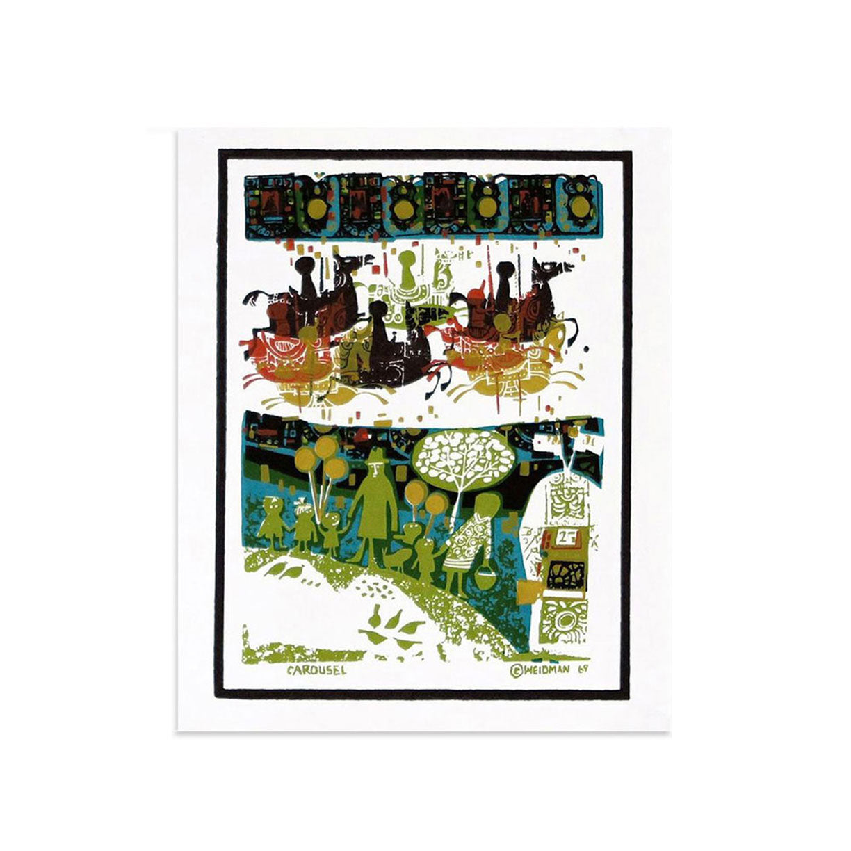 Carousel, mini by David Weidman | Print | Poster Child Prints