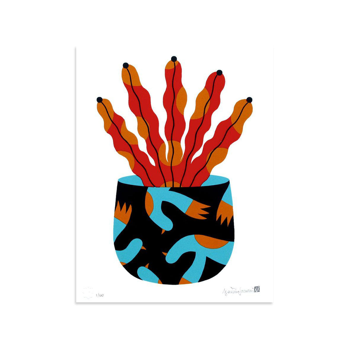 Painted Vase 2 by Agostino Iacurci | Archive | Poster Child Prints