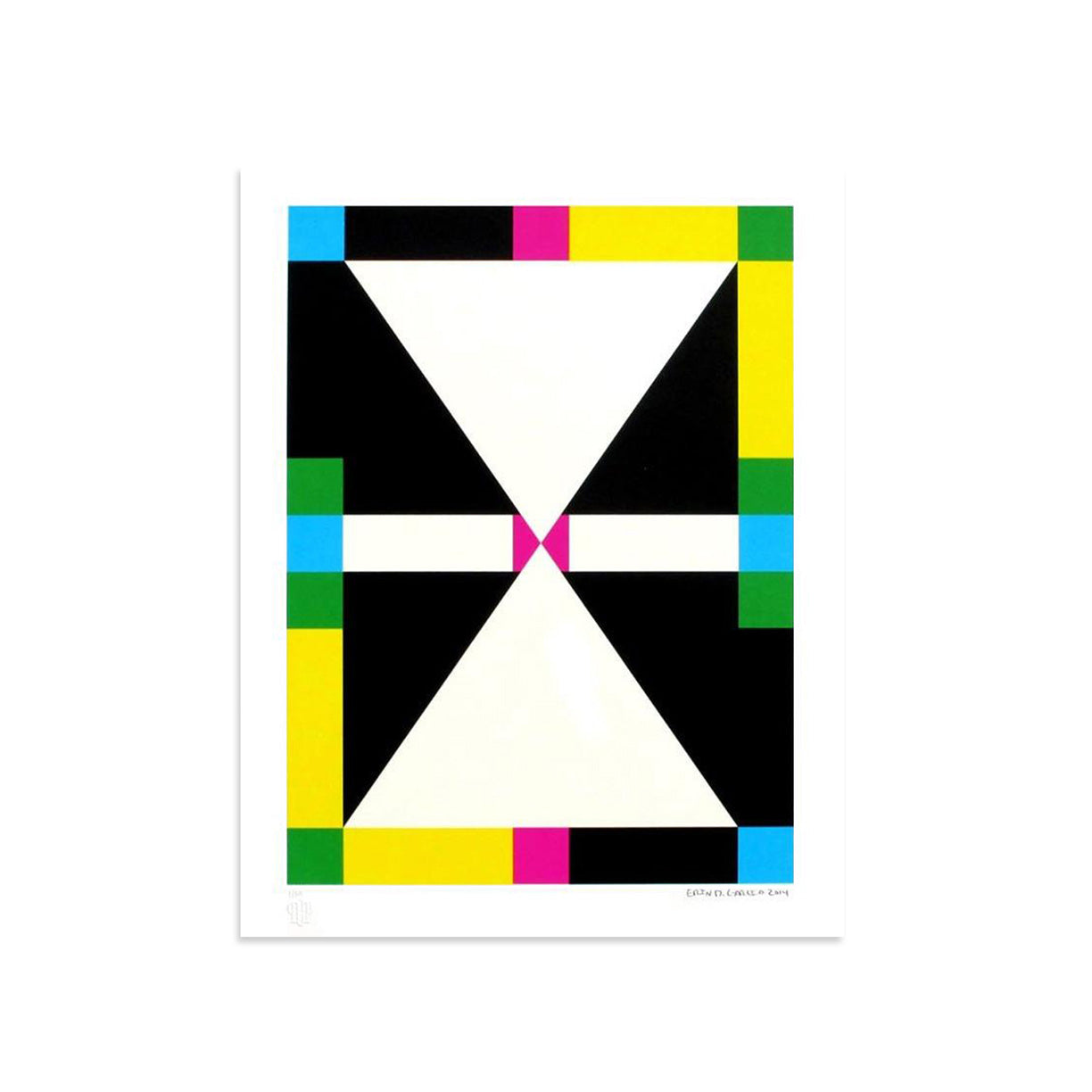 4 Shapes in 6 Colors - Color Rotation 1 by Erin D. Garcia | Print | Poster Child Prints