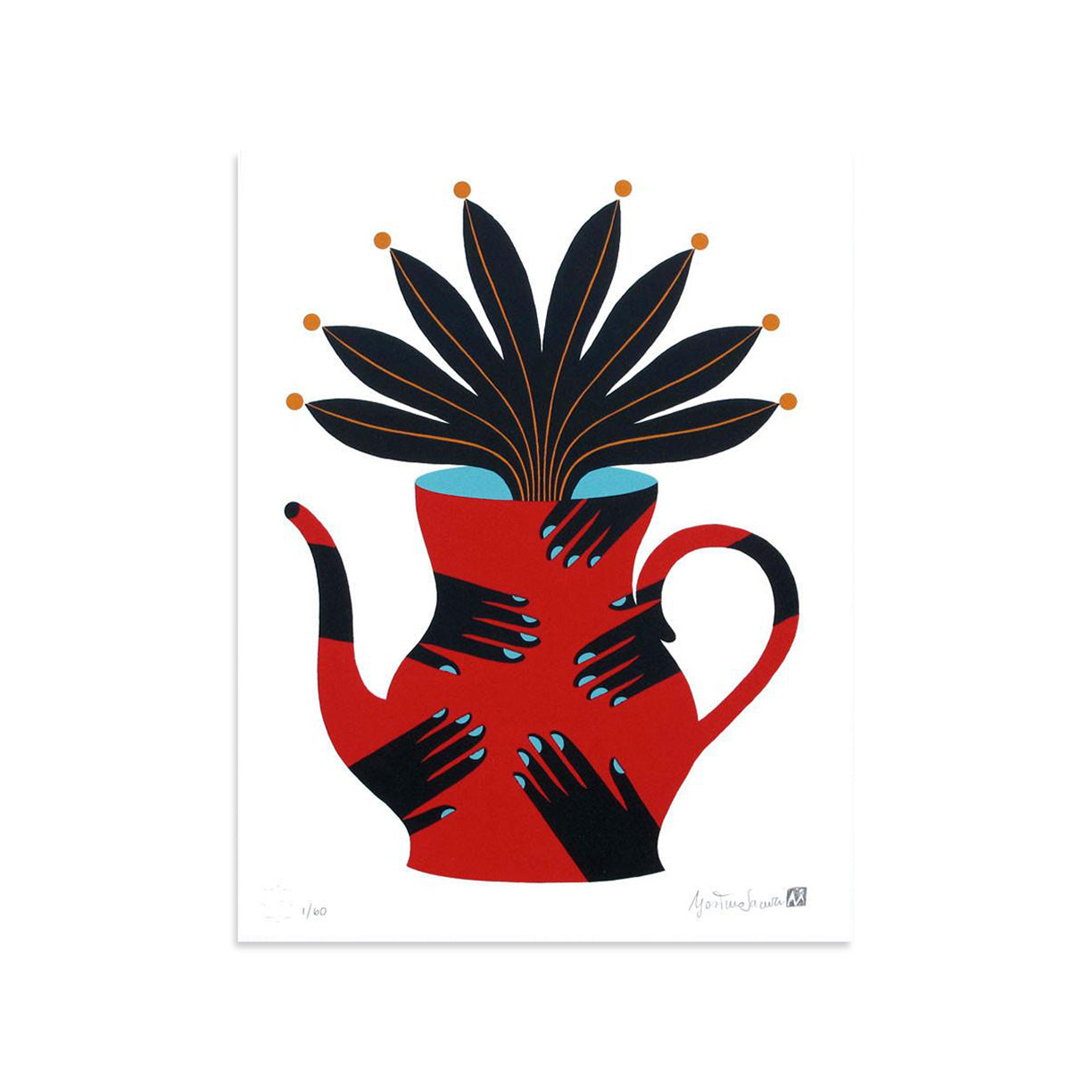 Painted Vase 4 by Agostino Iacurci | Archive | Poster Child Prints