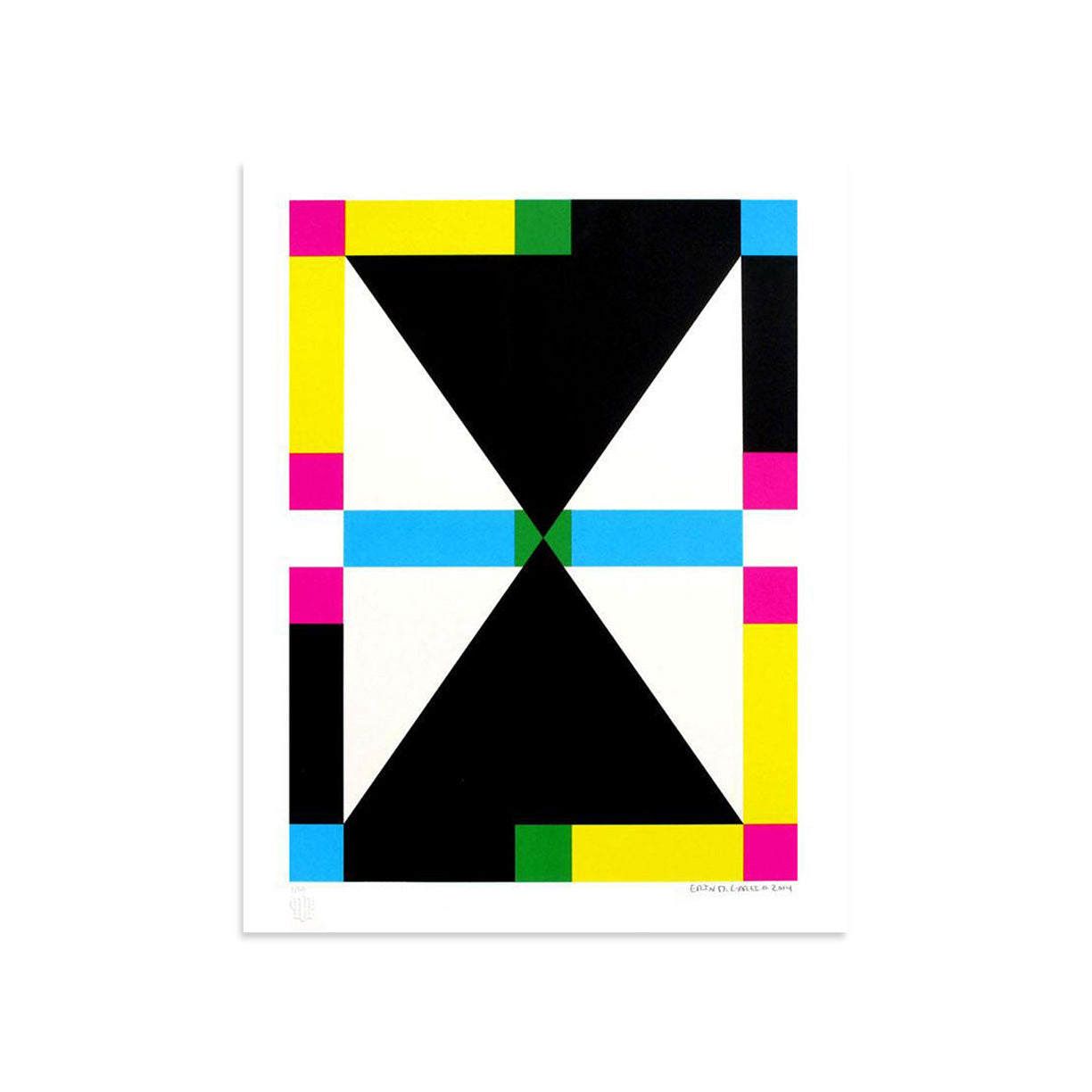 4 Shapes in 6 Colors - Color Rotation 2 by Erin D. Garcia | Print | Poster Child Prints