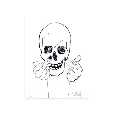 Skullman Flip Off by Tim Armstrong | Archive | Poster Child Prints