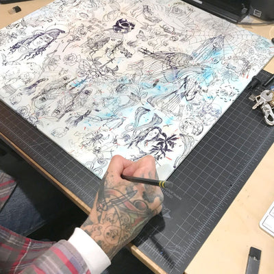 Tattoo Stencils is a newPrint by Nathan Kostechko | Poster Child Prints