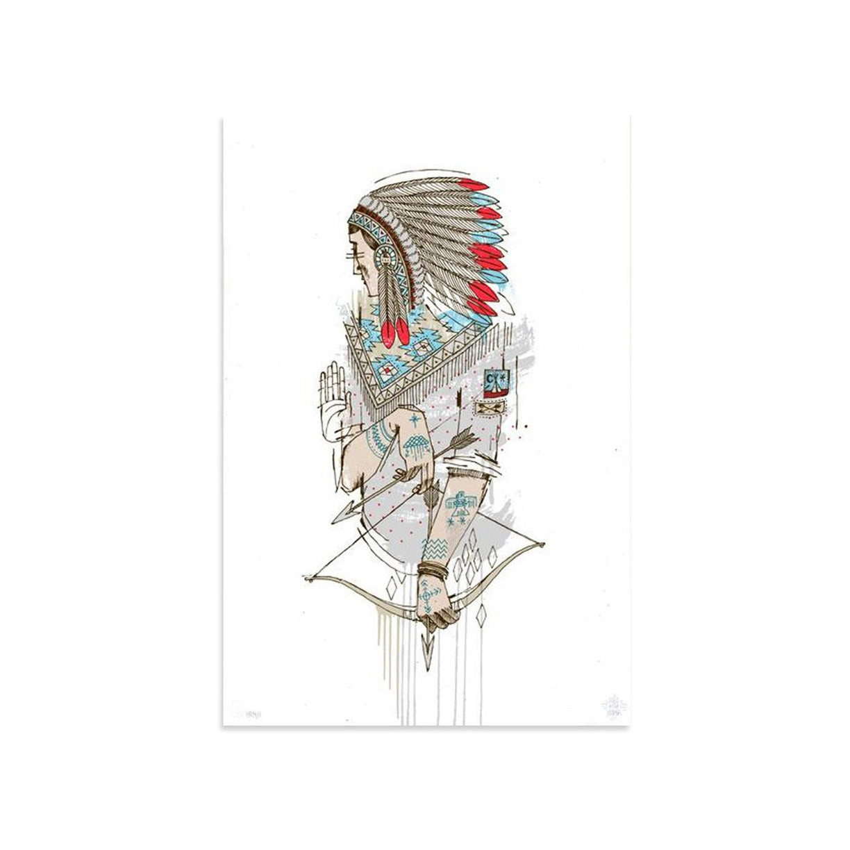 Native AE/18 by Word To Mother | Artist Edition | Poster Child Prints
