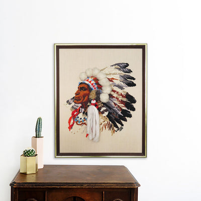 Native American Chief | Poster Child Prints | Found Art | One of a Kind