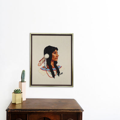 Native American Woman | Poster Child Prints | Found Art | One of a Kind