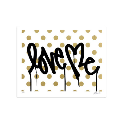 Love Me, Forever Gold - White by Curtis Kulig | Archive | Poster Child Prints