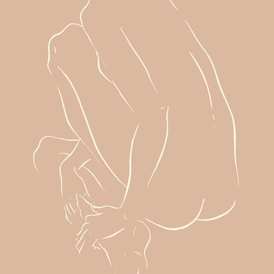 Nude Crouched by Jimmy Thompson-Print-Poster Child Prints