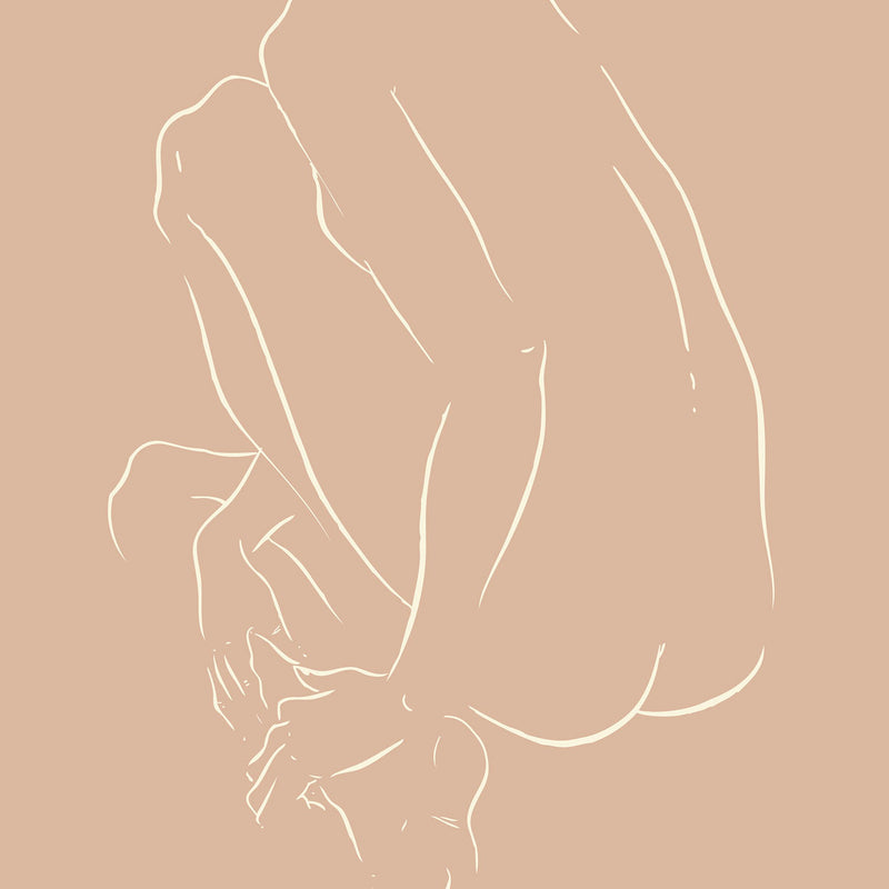 Nude Crouched by Jimmy Thompson | Print | Poster Child Prints