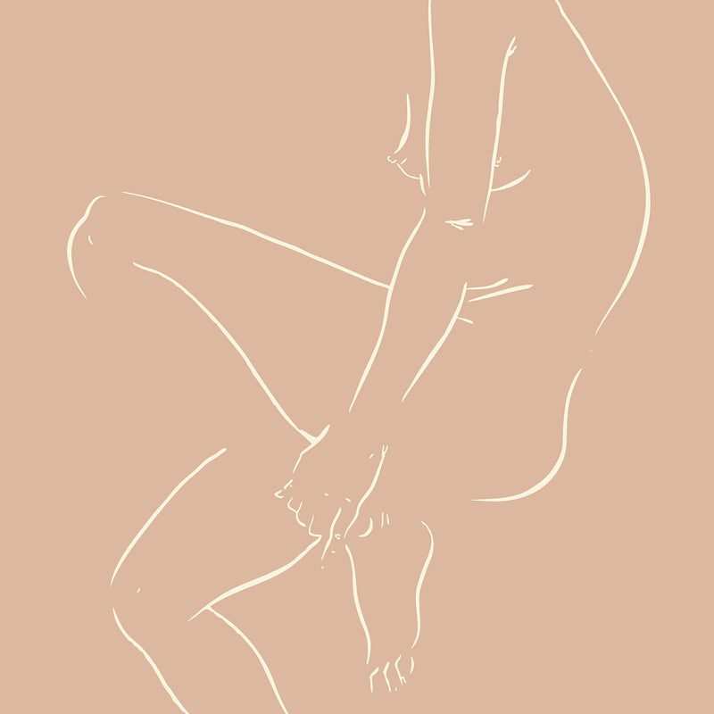 Nude With Bent Knee, 9 x 12