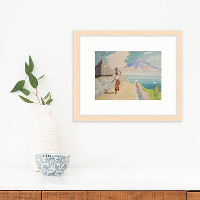 Ocean Landscape with Woman by Found Art | Found Art | Poster Child Prints