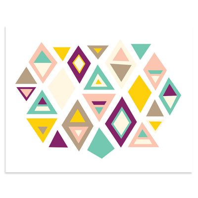 Pieces of Earth | Earth Tone Art | Minimal Triangles | PCP Collection