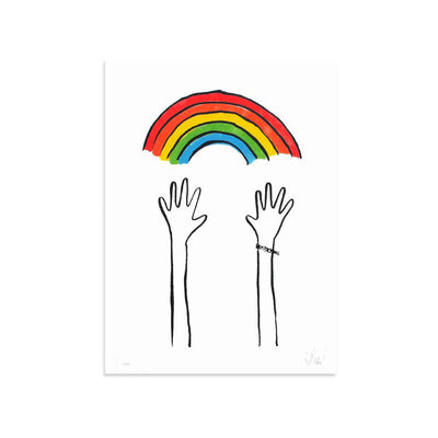 Reaching Rainbows by Dallas Clayton | Print | Poster Child Prints