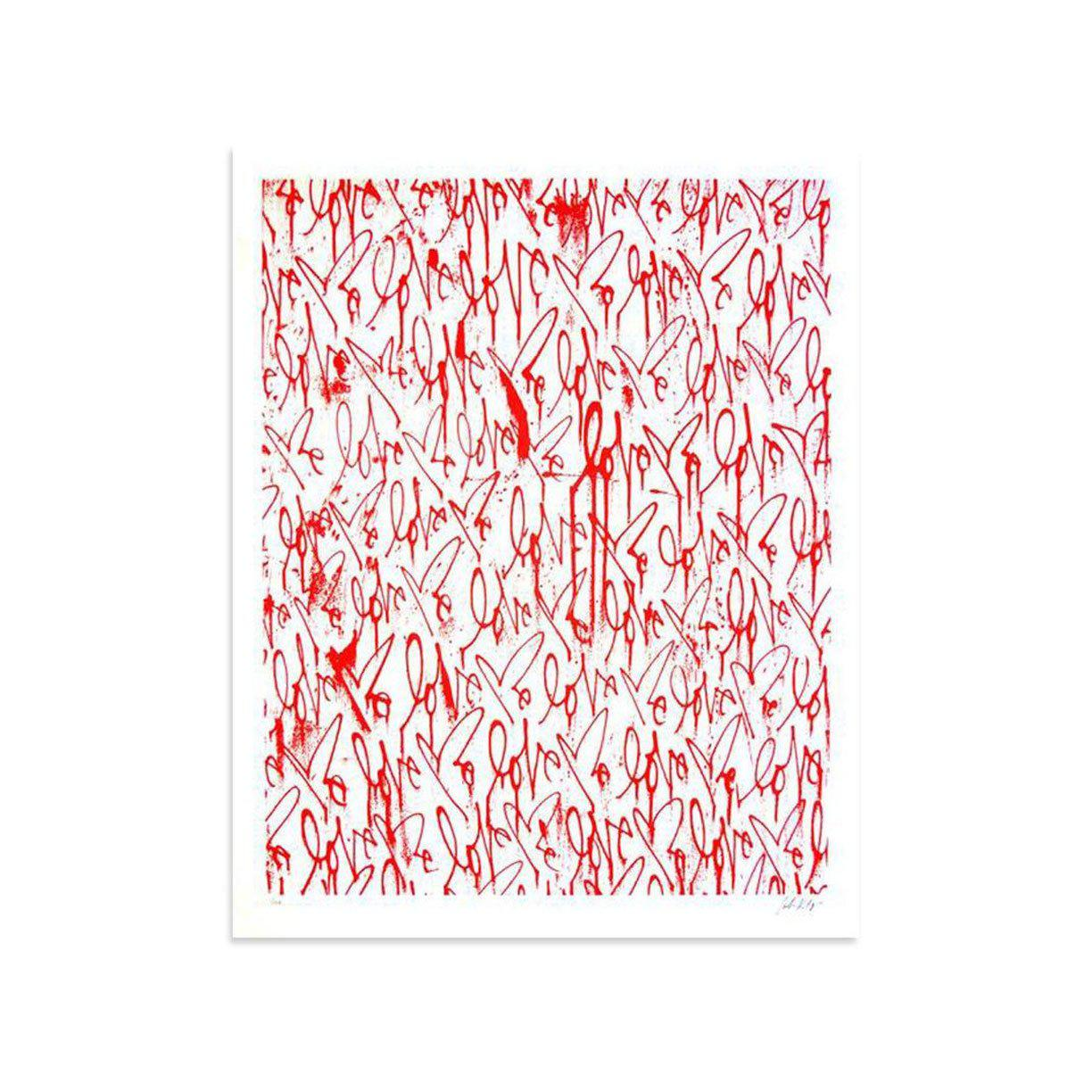 Love Me, Red Friday by Curtis Kulig | Archive | Poster Child Prints
