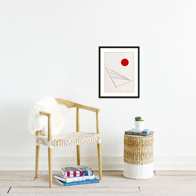 Red Sun | Poster Child Prints | Found Art | One of a Kind