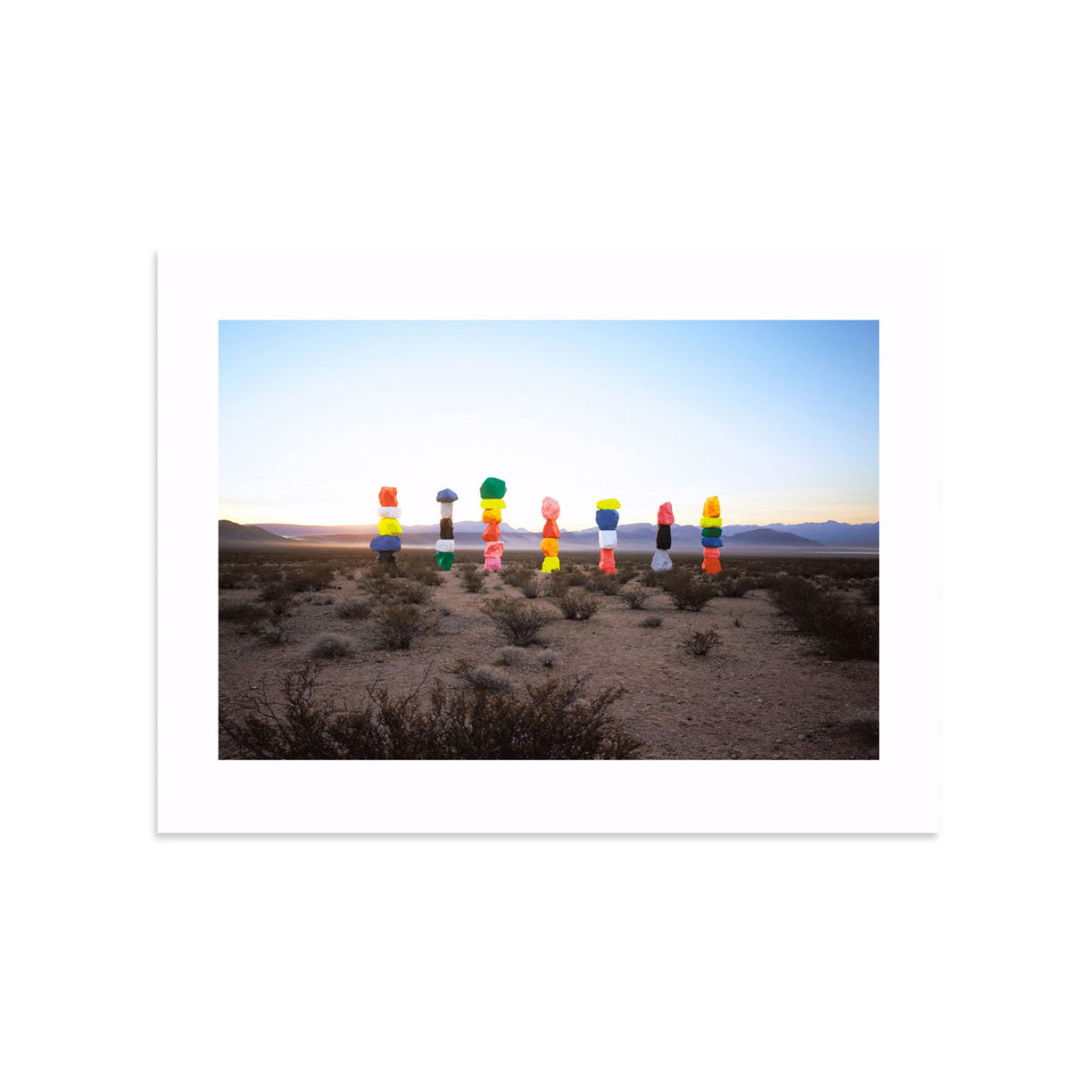 Seven Magic Mountains, 18x24