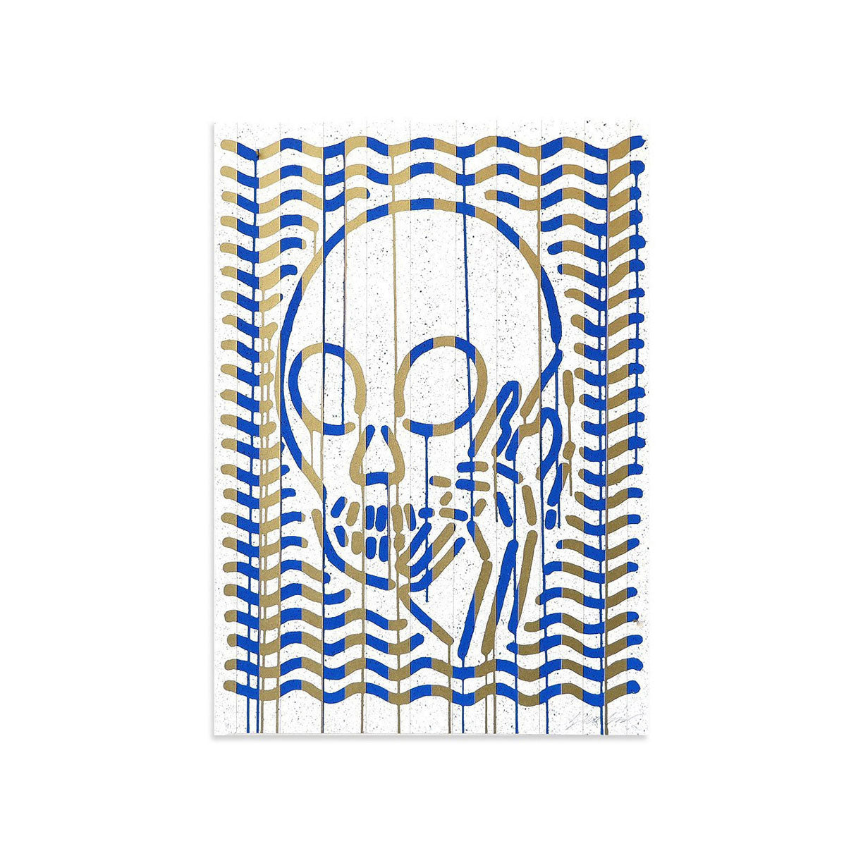 MOP Blue & Gold AE/1 by Skullphone | Artist Edition | Poster Child Prints