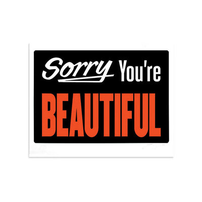 Sorry You're Beautiful 2.0 by Michael Coleman-Print-Poster Child Prints