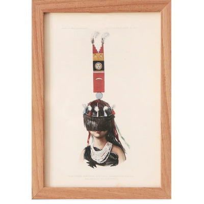 Found Art | Poster Child Prints | Vintage Lithograph | One-of-a-Kind | Indigenous Art | Portrait