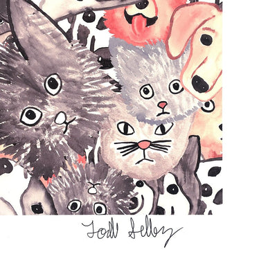 The Selby's Kitties and Doggies is a newPrint by Todd Selby | Poster Child Prints