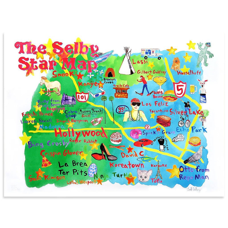 The Selby's LA Star Map