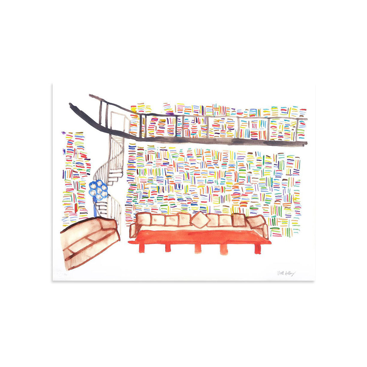 Lagerfeld's Library by Todd Selby | Print | Poster Child Prints