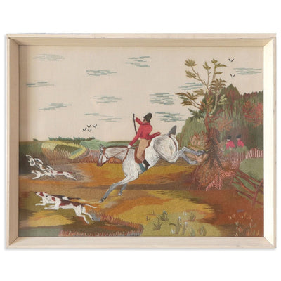 Found Art | Poster Child Prints | Vintage Textile Art | One-of-a-Kind | Embroidery | Landscape | Equestrian | Folk Art