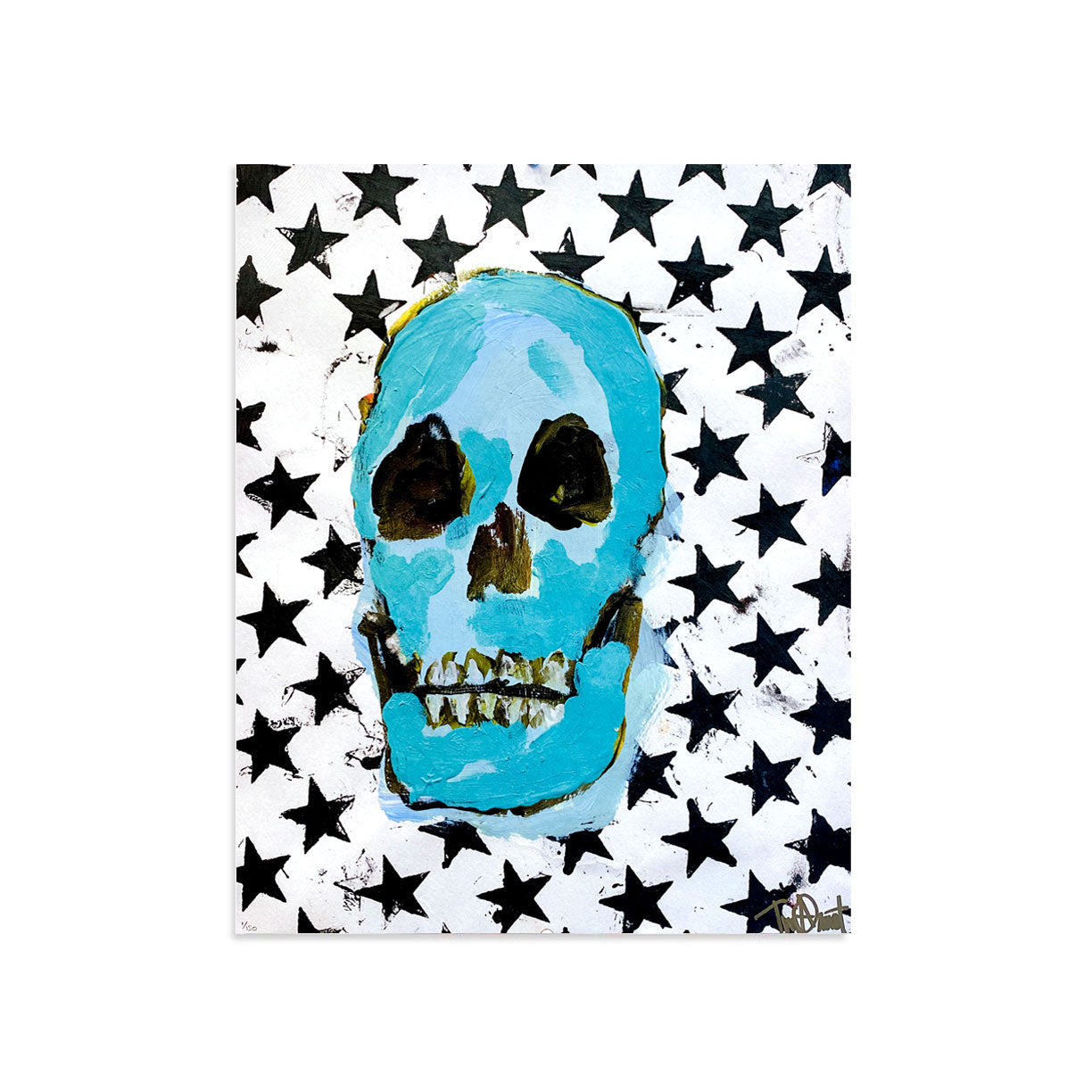 Skull & Stars by Tim Armstrong-Screen Print-Poster Child Prints