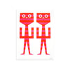 Calli Twins by Tim Biskup | Print | Poster Child Prints