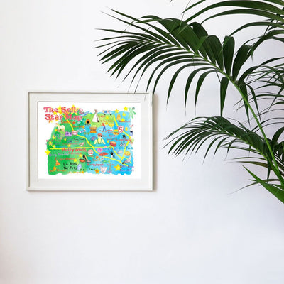 The Selby's LA Star Map by Todd Selby | Print | Poster Child Prints