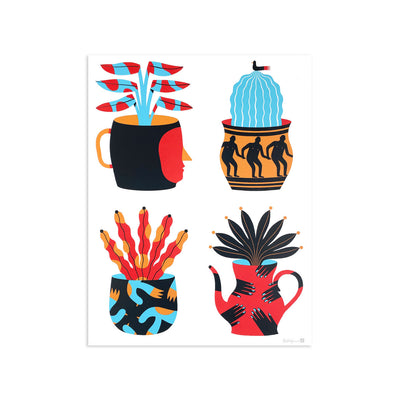 Painted Vases by Agostino Iacurci | Print | Poster Child Prints