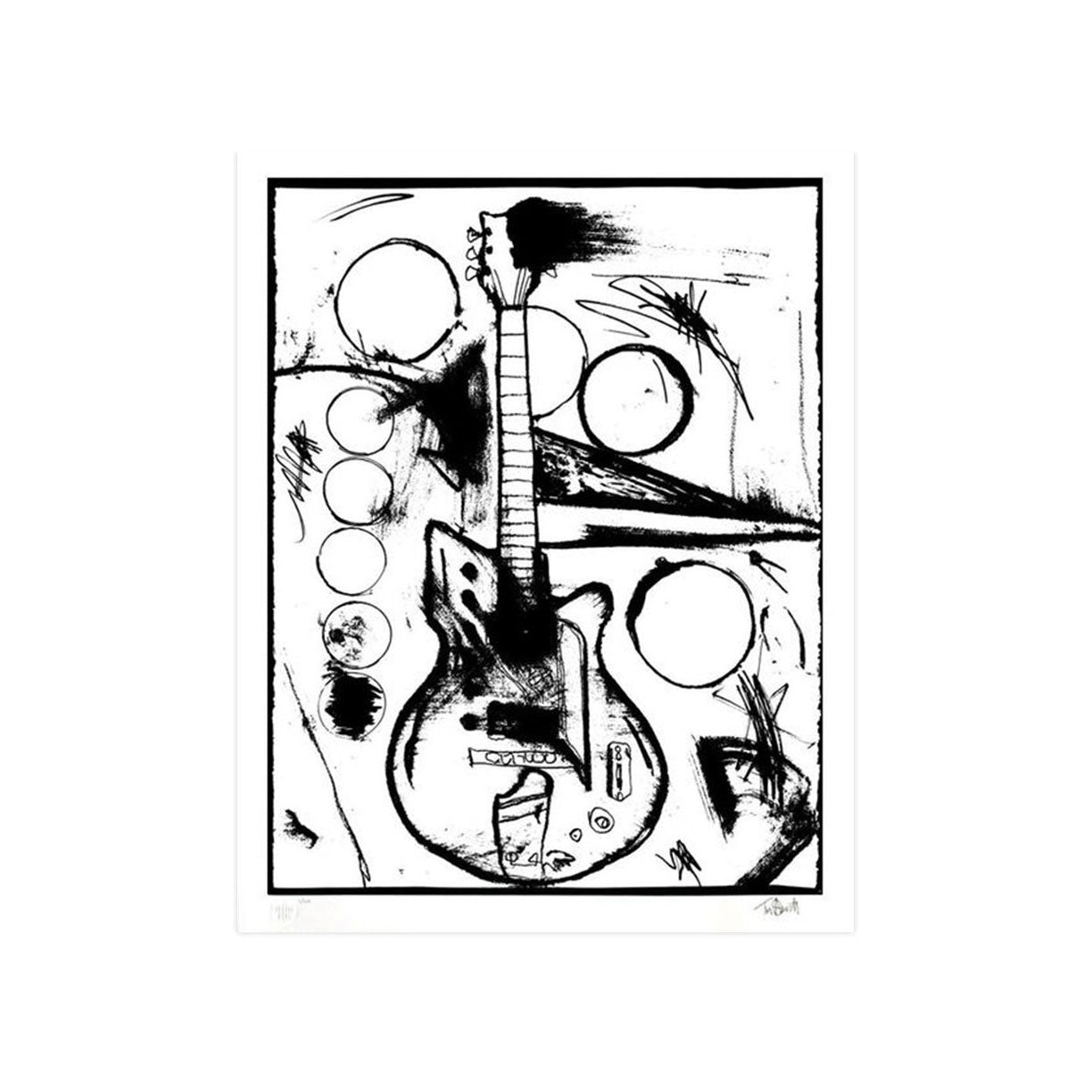 Vera's Guitar (Black & White Edition) - Archive by Tim Armstrong-Archive-Poster Child Prints