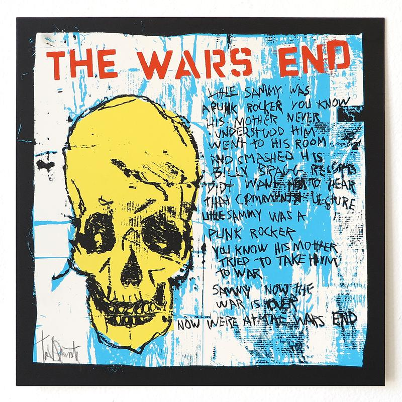 The Wars End - Yellow Skull by Tim Armstrong-Archive-Poster Child Prints