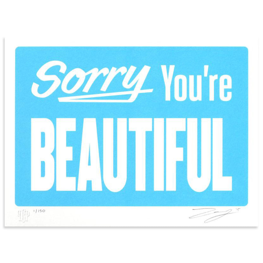 Sorry You're Beautiful - Pastel Blue