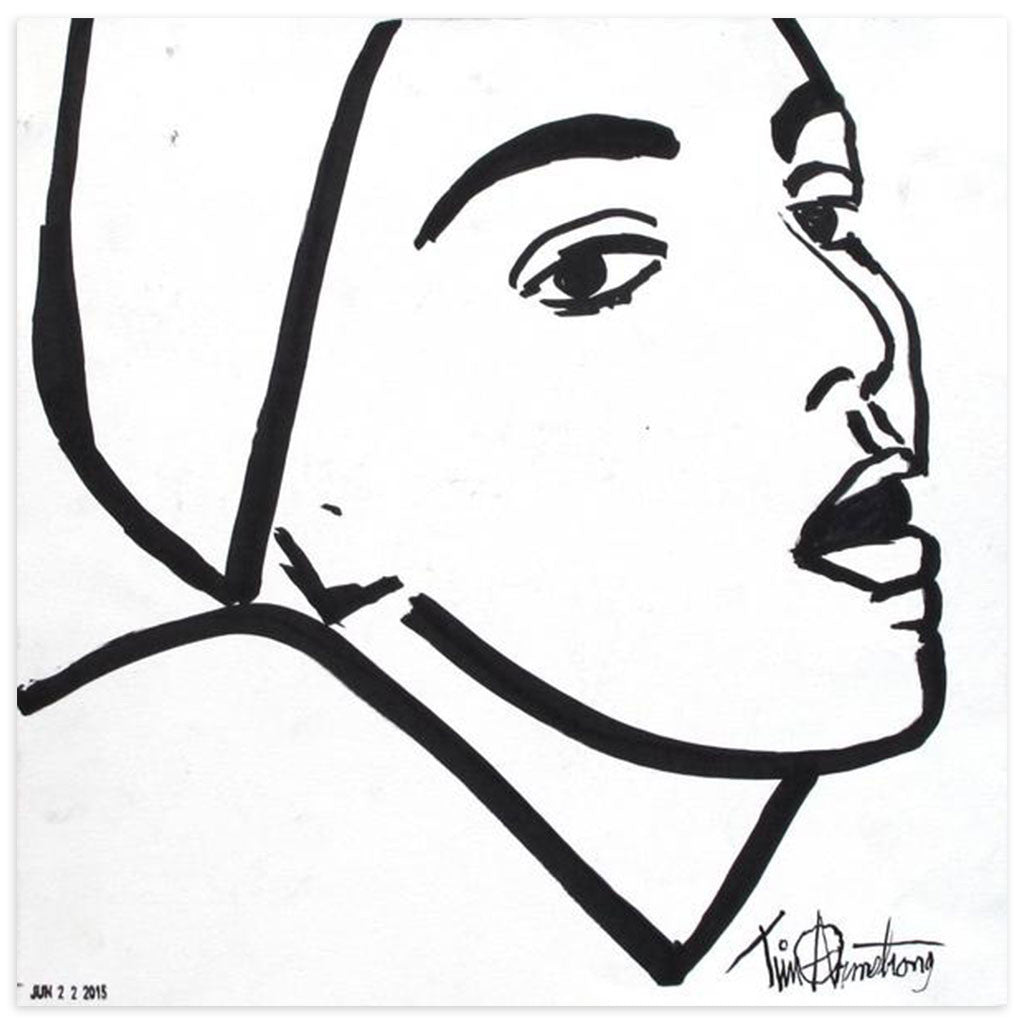 Woman Staring by Tim Armstrong | Original Artwork | Poster Child Prints