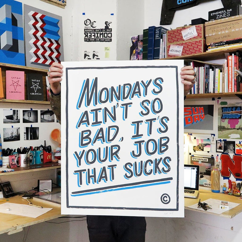 Mondays by Ornamental Conifer-Print-Poster Child Prints