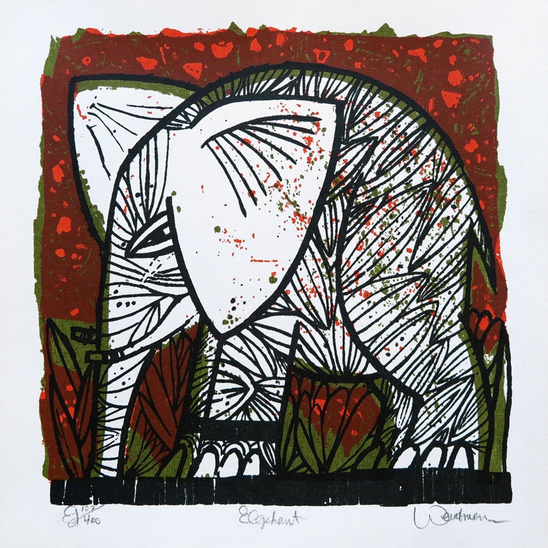 Elephant, Red by David Weidman | Print | Poster Child Prints