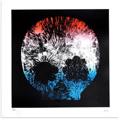 Explosion, Red White & Blue, Matt Goldman | Poster Child Prints