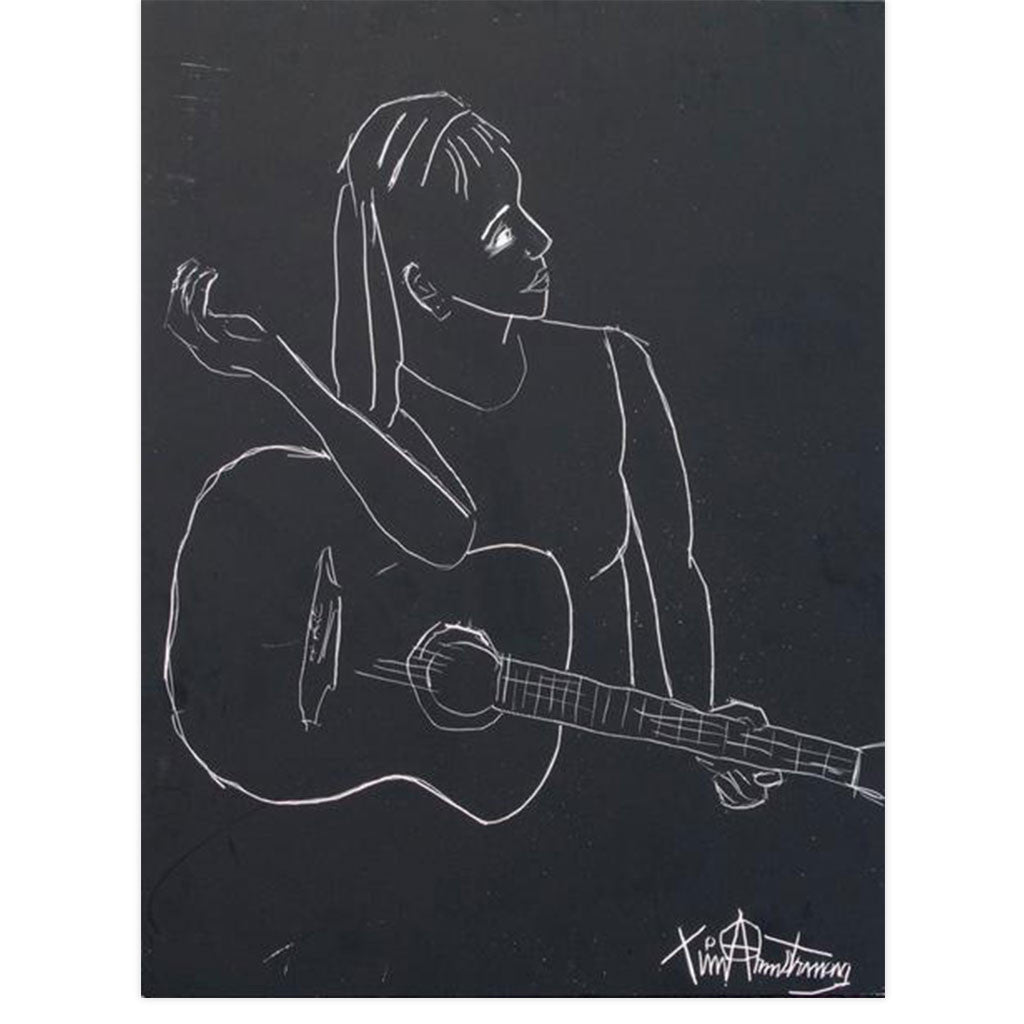 Lulu Playing Guitar by Tim Armstrong | Original Artwork | Poster Child Prints
