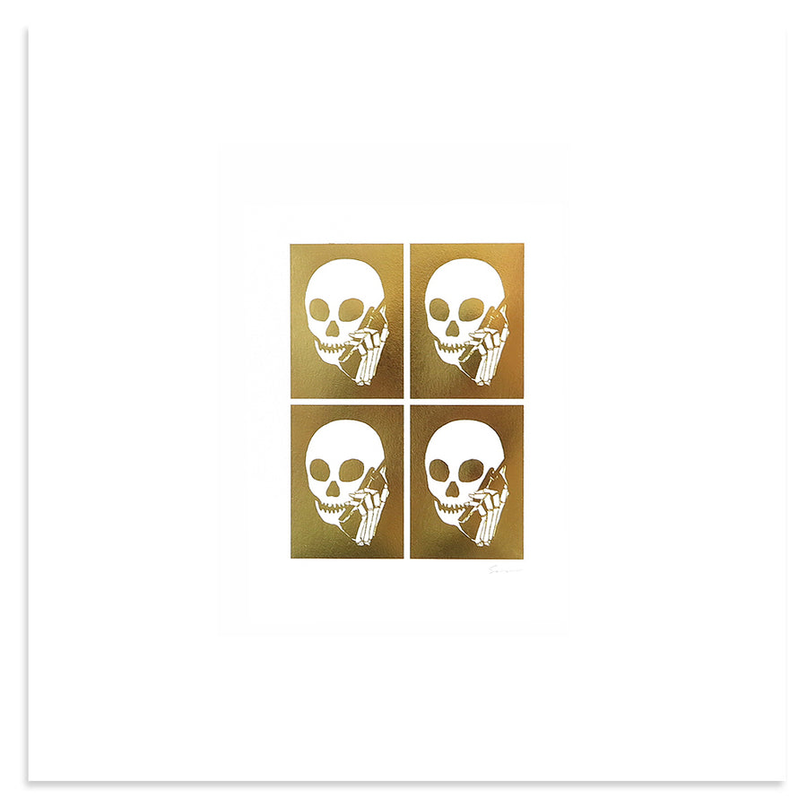 Gold Foil Grid | Skullphone | Print | Poster Child Prints