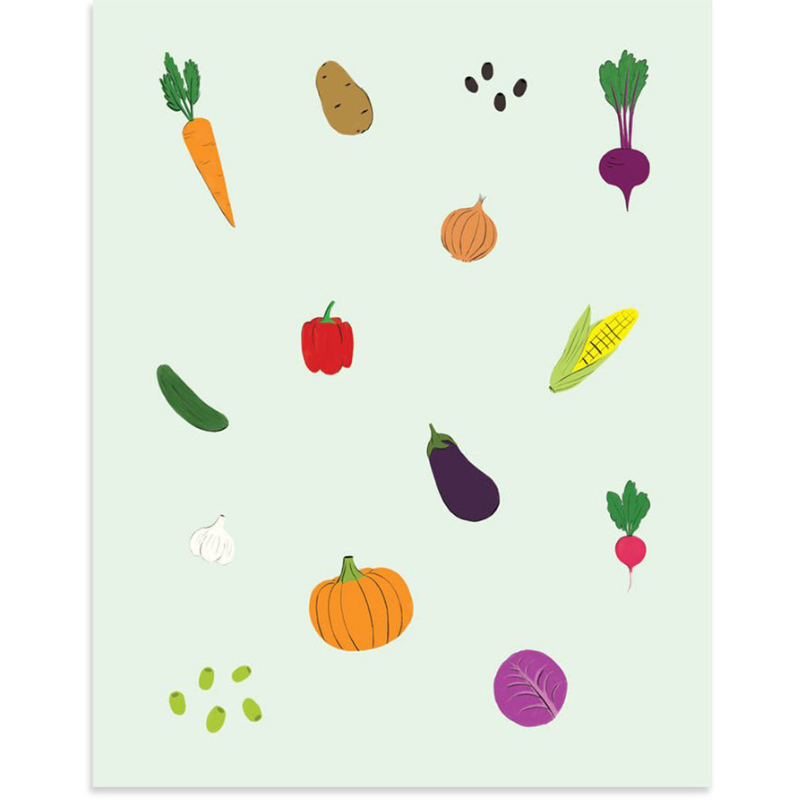 Veggie Stand by PCP Collection-Print-Poster Child Prints
